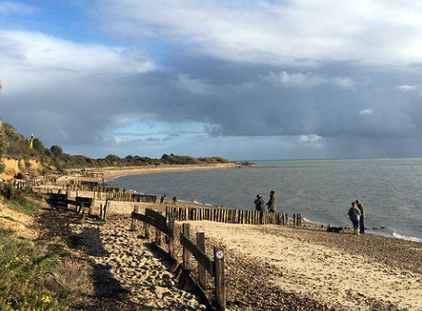 Sandy beaches at Lepe